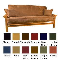 Microsuede Futon Cover Set with Double Cording  Overstock