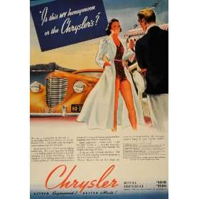 1938 Ad Hawaii Honeymoon Chrysler Royal Imperial Models