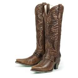 Lane Boots Womens Brown Stud Rocker Cowboy Boots