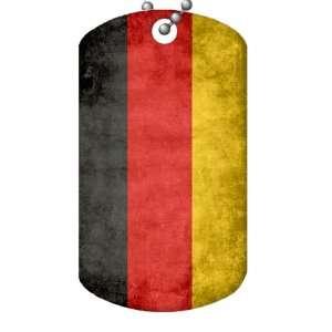 German Flag Dog Tag and Chain