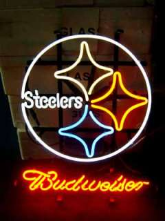 PITTSBURGH STEELERS FOOTBALL BEER BAR NEON LIGHT SIGN me050