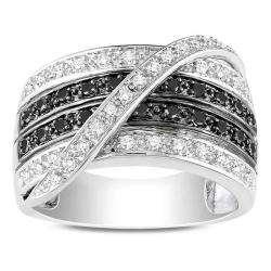 2ct TDW Black and White Diamond Fashion Ring (G H, I3)