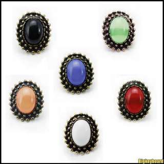 Retro Vintage Sexy Candy Color Korean Fashion Big Rhinestone Ring