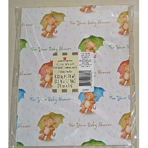 American Greetings Baby Shower Gift Wrap Health