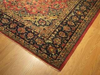 x10 Handmade CarpetAntique 1940s Persian Isfahan Fine Knots Wool
