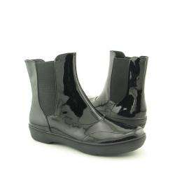 Top Sider Womens Shorewood Black Patent Leather Boots (Size 10