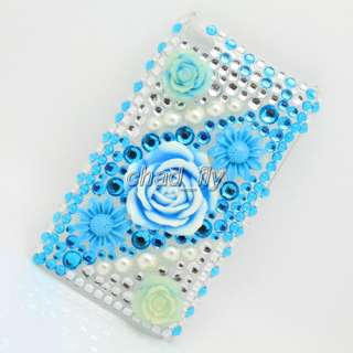 For ipod touch 4 4th Back Hard Bling Rhinestone Diamond Crystal Case