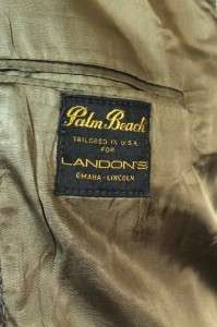mens herringbone striped HARRIS TWEED jacket blazer sport coat sz 42 L