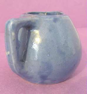 BYRD American POTTERY Tyler Texas Miniature Blue PITCHER |
