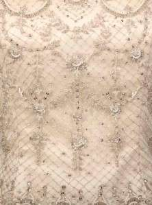 427 Silk Satin Beadwork Ballgown Couture Bridal Wedding Gown