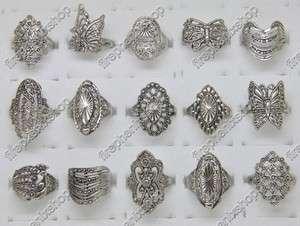Wholesale lots 100 Pcs Mix style Elegant Alloy Rings