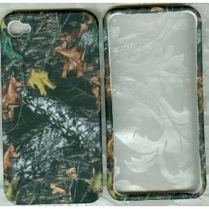 Camo leaf rubberized apple iPhone 4 4G faceplate snap hard