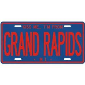 KISS ME , I AM FROM GRAND RAPIDS  MICHIGANLICENSE PLATE SIGN USA CITY