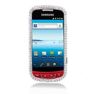 SILVER BLING HARD CASE FOR SAMSUNG ADMIRE R720 PROTECTOR SNAP COVER