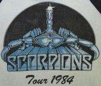 SCORPIONS Vintage Concert SHIRT 80s TOUR T Jersey RAGLAN 1984