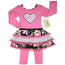 JoJo Designs Hot Pink Floral and Polka Dot Baby Outfit  Overstock