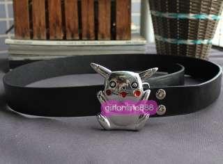 Pokemon Pikachu fashion Metal Buckle leather Belt B