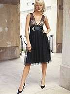 NWT$148 Moda International Black Lace Tuxedo Dress 2