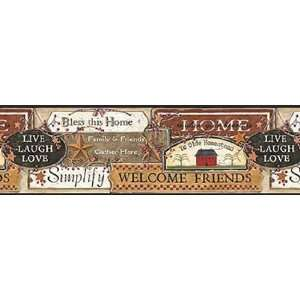 Black Country Signs Wallpaper Border: Home Improvement