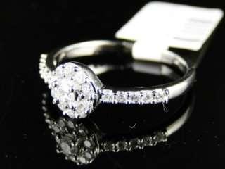 14K LADIES WHITE GOLD DIAMOND ENGAGEMENT SOLITAIRE RING