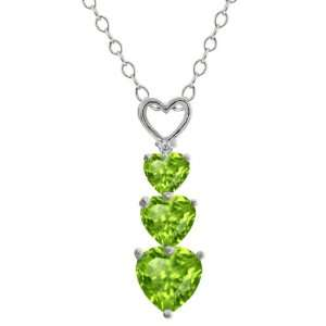 1.62 Ct Genuine Heart Shape Green Peridot Gemstone 10k