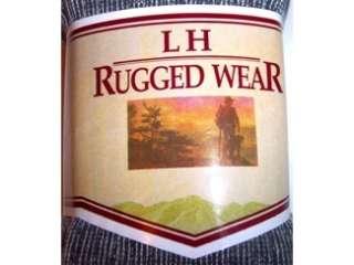 12pr LH Rugged Wear Merino Wool Socks 10 13