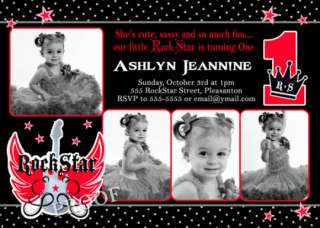 birthday party invitation little rebel first birthday party invitation