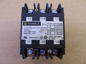 Square D Definite Purpose Contactor DPA 63 Class 8910