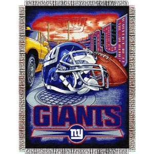 New York Giants Catch NFL Woven Tapestry Throw Blanket (48