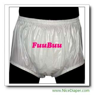 2x2201 ADULT BABY DIAPERS INCONTINENCE PLASTIC PANTS 白
