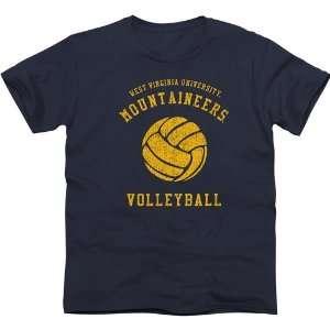 NCAA West Virginia Mountaineers Club Slim Fit T Shirt   Navy Blue