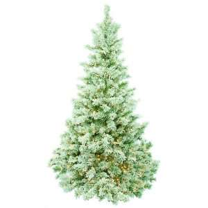 Bethlehem Lights Pre Lit 7 1/2 Foot Flocked Buffalo Christmas Tree