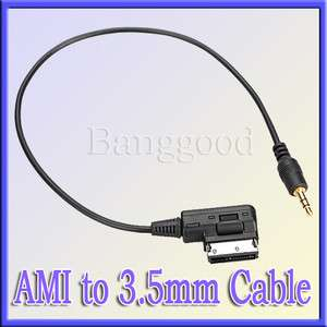 Audi Music Interface AMI MMI 3.5mm Jack Aux IN  Cable For A3/A4/A5