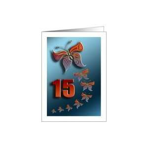 butterfly birthday 15 years old Card: Toys & Games