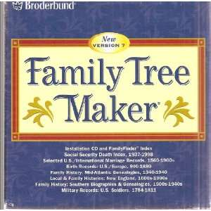 Broderbund Family Tree Maker New Version 7 Set of 2 Packages (Total of