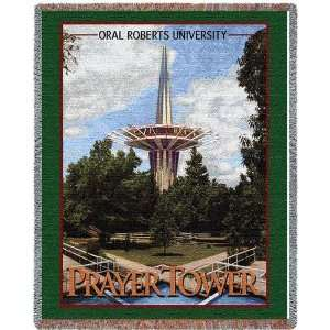 Oral Roberts University Prayer Tower Jacquard Woven Throw