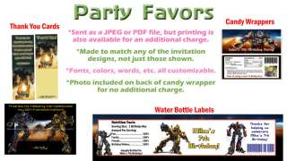 Transformers Bumblebee ~ Birthday Party Ticket Invitations, Supplies
