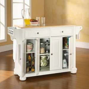 Kitchen Island, White Kitchen Island, Solid Wood Kitchen Island, Home