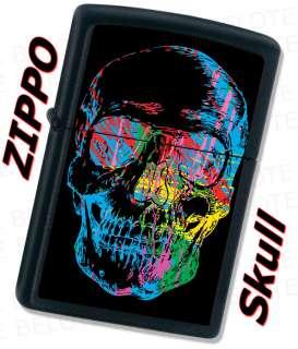 Zippo SKULL Black Matte Windproof Lighter 28042 **NEW**