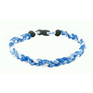 Ionic Titanium Sports Necklace Light Blue & White Sports & Outdoors