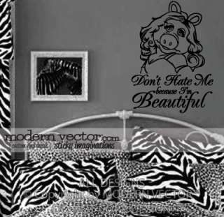 Miss Piggy Quote Vinyl Wall Quote Decal IM BEAUTIFUL