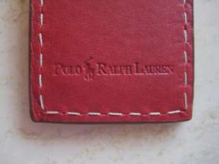 POLO RALPH LAUREN NEW RED LEATHER MAGNET MONEY CLIP Box