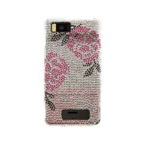 Hard Diamond Phone Cover Case Winter Rose For Motorola