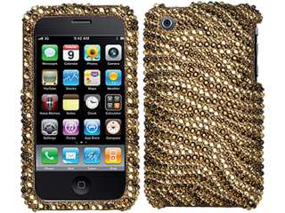 DIAMOND BLING CRYSTAL FACEPLATE CASE COVER APPLE IPHONE 3G 3GS