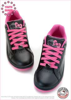 Sanrio Hello Kitty Ladys Comfy Sneakers Low Profile Shoes Black Peach