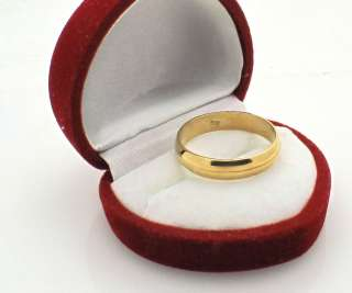 21k Solid Yellow Gold Wedding Band Ring 5 gr size 9.75