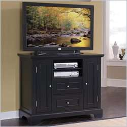 Home Styles Bedford Compact 44 Inch TV Stand in Black Finish [242049]