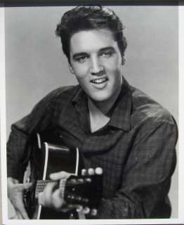 Presley Guitar Smile King of Rock and Roll Poster Print RARE