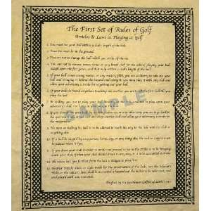 Original Rules of Golf 1744 Office Producs