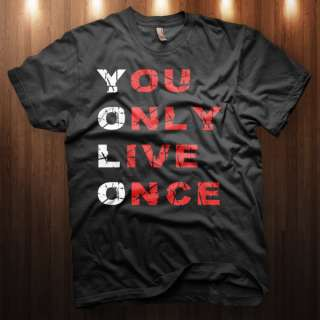 You Only Live Once Y.O.L.O YMCMB OVO Take Care T Shirt DRAKE LIL WAYNE